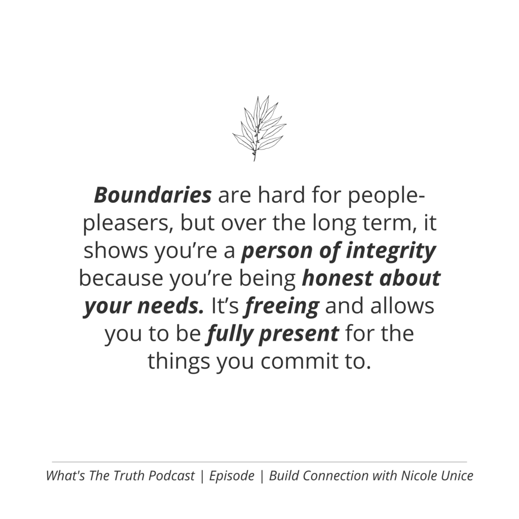build connection while keeping your boundaries